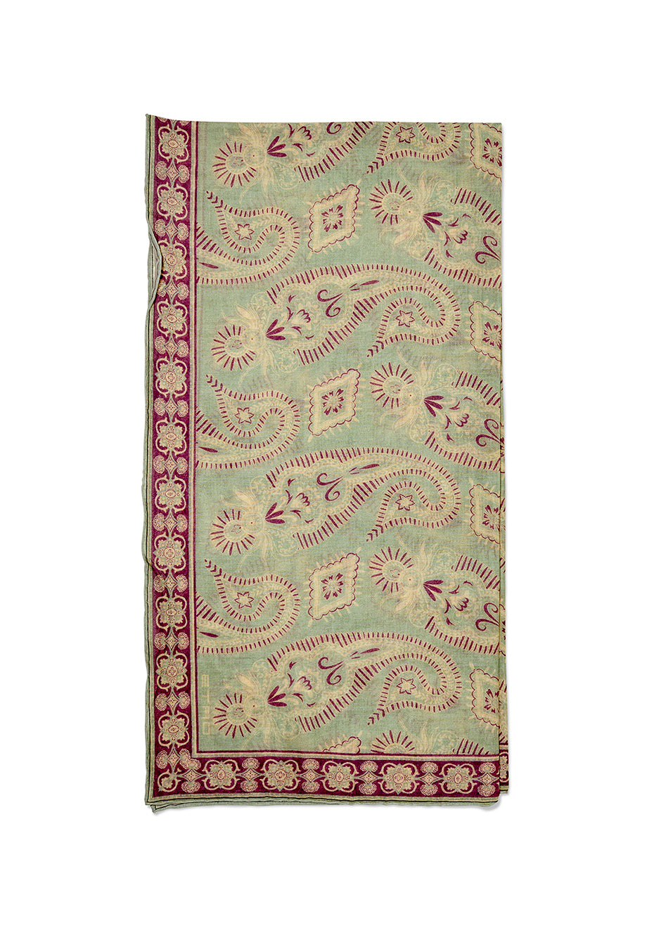 Dusty Green Paisley Scarf