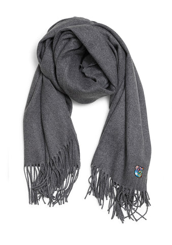 Cash Fringe Scarf Grey