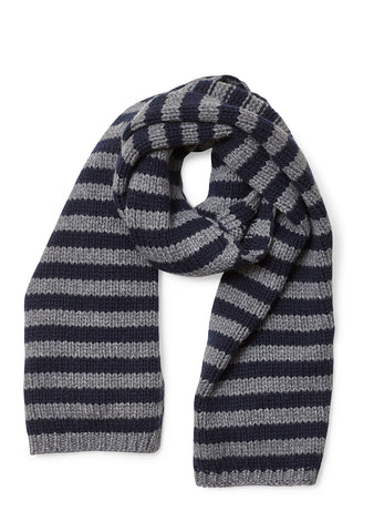 Bad Habits Navy & Grey Cashmere Scarf
