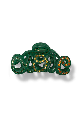 MC Davidian Green Love Hair Clip