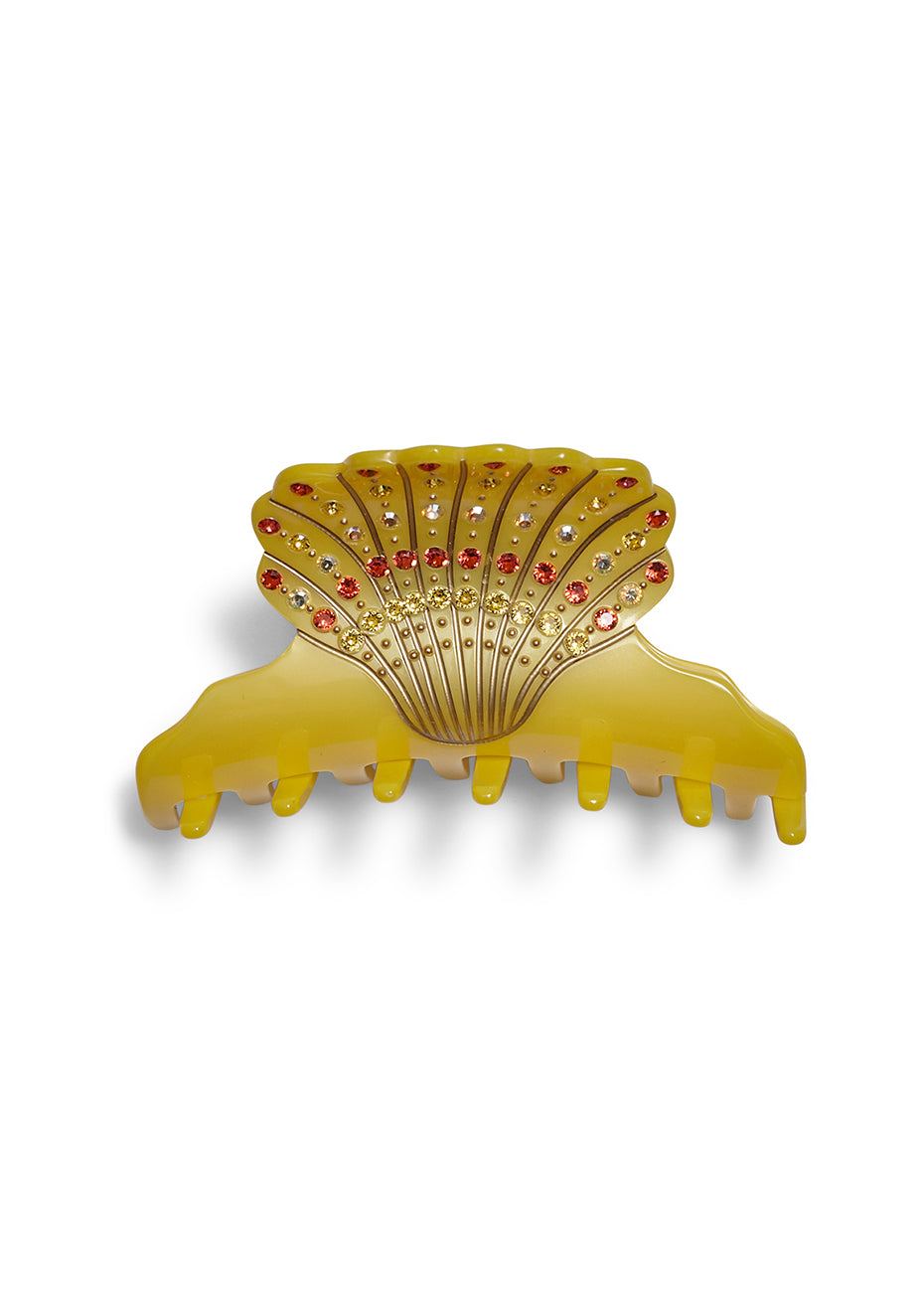 Yellow Seashell Hair Clip
