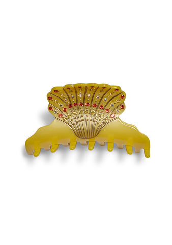 MC Davidian Yellow Shell Hair Clip
