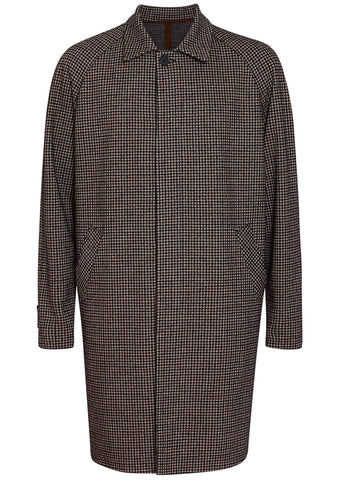 arris Wharf London Burgundy Tattersall Raglan Coat