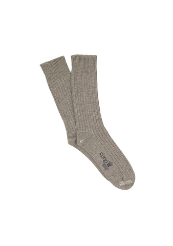Corgi Men's Heather Grey Cashmere Socks