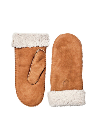 Hestra Brown Sheepskin Mitten