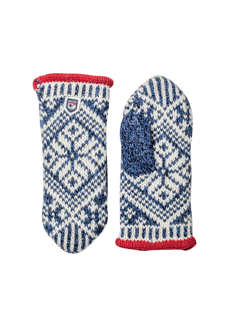 Nordic Wool Blue Knit Mittens