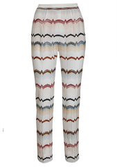 Missoni Women White Zig Zag Pants