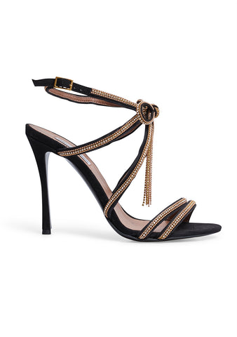 Tabitha Simmons Iceley Black Embellished Sandals