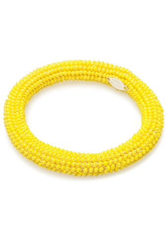 Lemon Yellow Beaded Bracelet