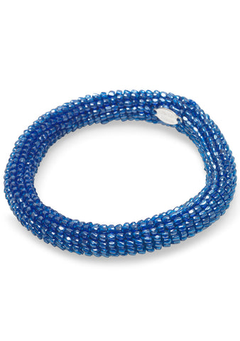 Blue Marine Beaded Bracelet