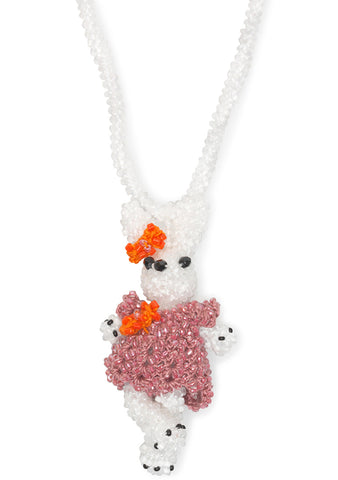 Bunny With Dress Necklace
