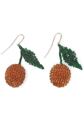 Shell Orange Cherry Earrings