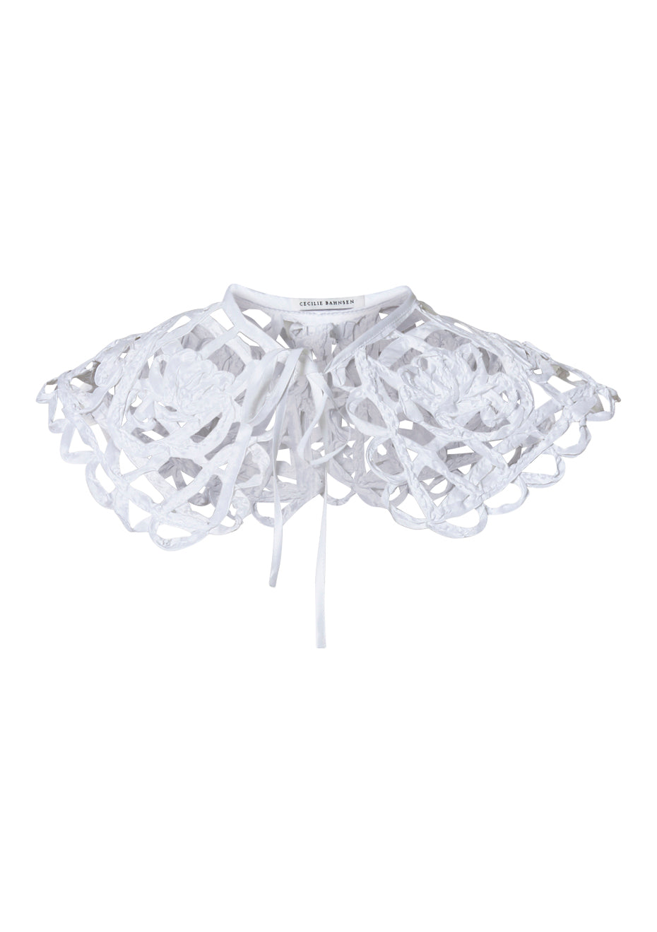 Cayden White Embroidered Collar