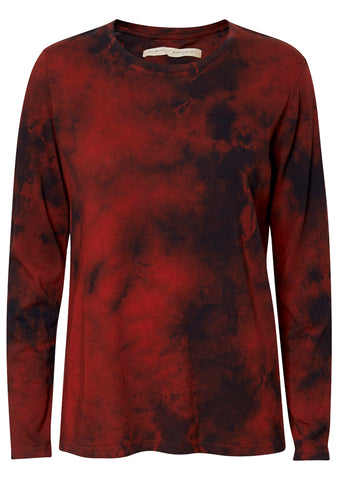 Tie Dye Long Sleeve Tee Red