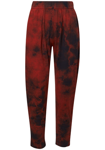 Red Jersey Easy Pant