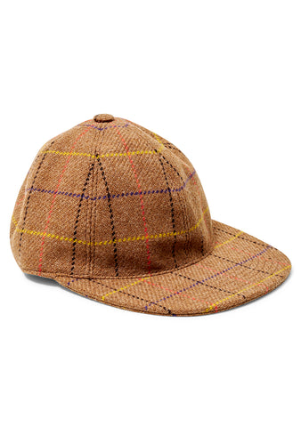 Checkered Brown Cap