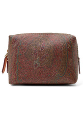 Brown Paisley Toiletry Bag - XSmall