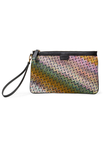Large Multi Printed Clutch