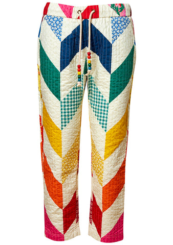 Rainbow Quilted Pants