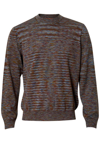 Multicolor Wool Crew Neck