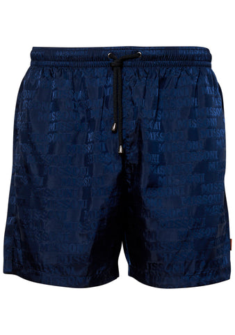 Navy Logo Swim Shorts