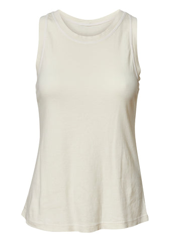 Cream Racer Back Tank