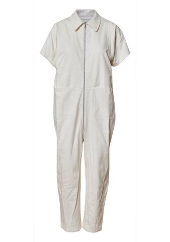 Barrie Off White Corduroy Jumpsuit