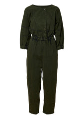Holt Olive Denim Jumpsuit