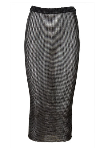Tube Black Transparent Skirt