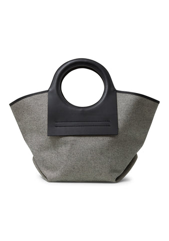 Cala Small Black Canvas Tote Bag