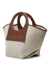 Cala Small Chestnut Canvas Tote Bag