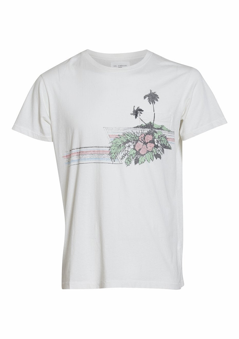 Two Palms Print Pocket Tee