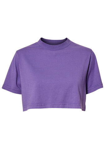 Purple Cropped T-shirt