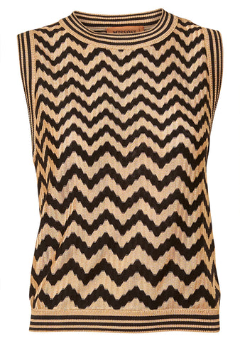Short Sleeve Zig-Zag Top