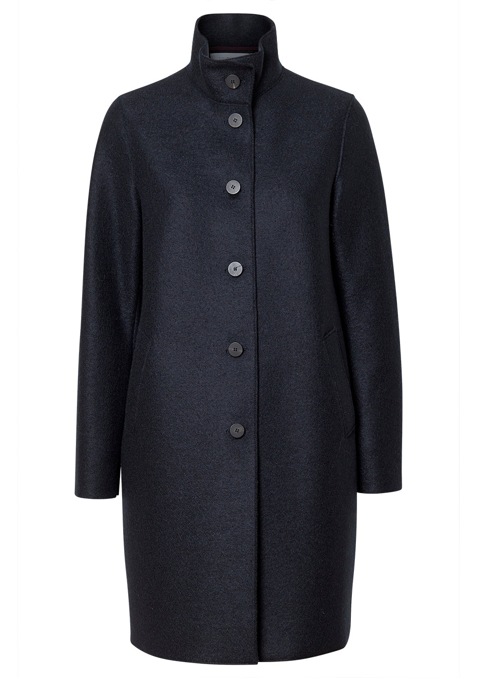 Pressed Dark Blue Wool Coat