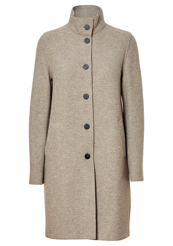 Pressed Mouliné Wool Coat