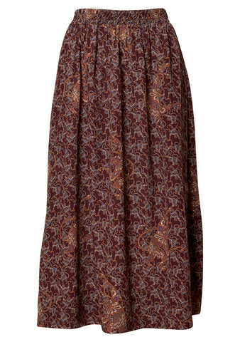 Lip Wine Cashmere Skirt