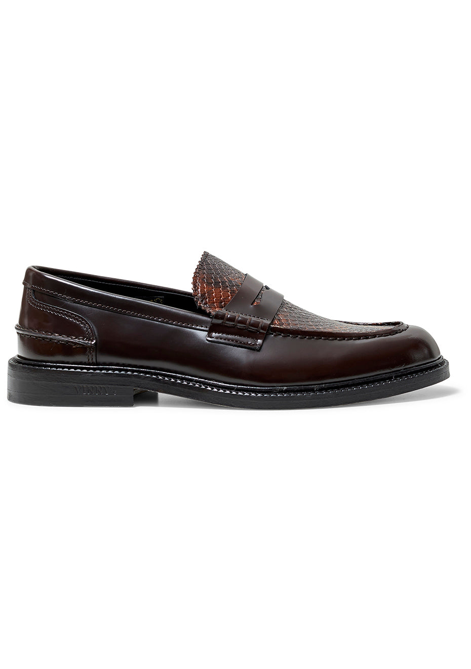 Townee Brown Python Loafer