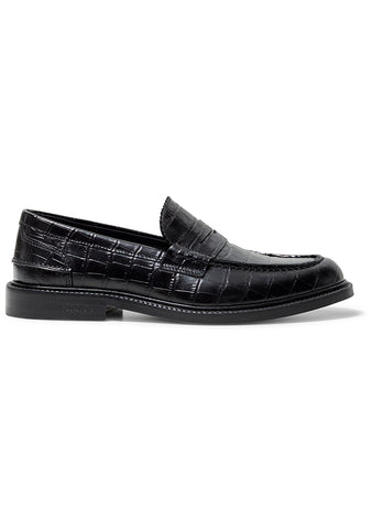 Romeo Black Croco Loafer