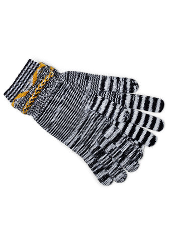 Striped Knitted Gloves