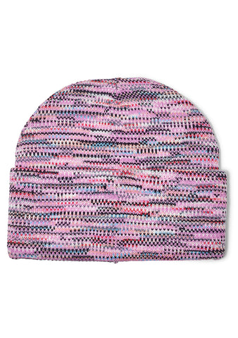Pink Multi Striped Wool Hat
