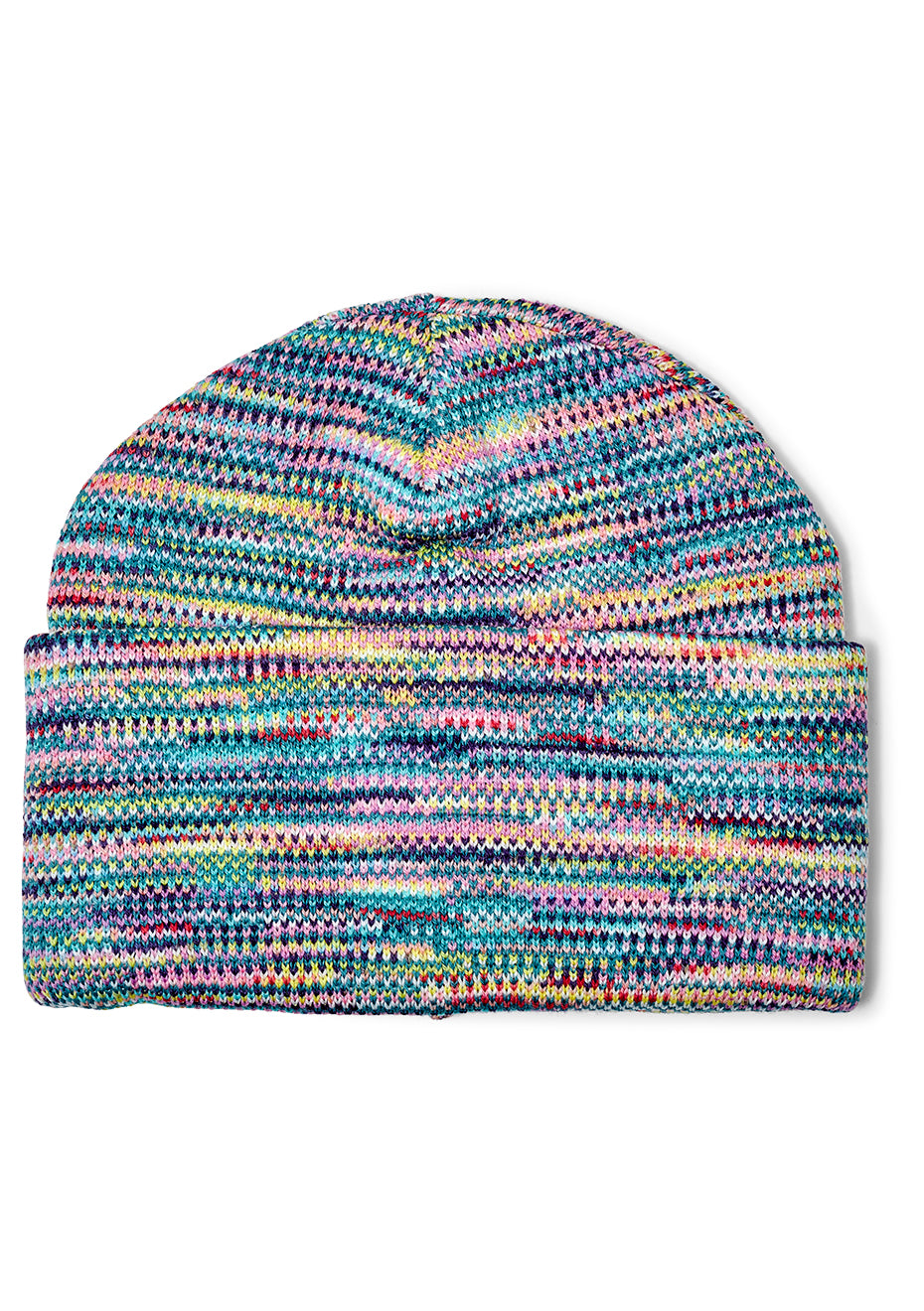 Green Multi Striped Wool Hat