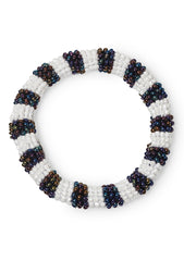 Metal Blue And White Bracelet