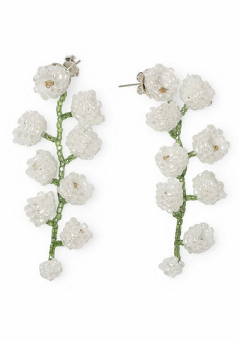 Aprosio & Co. White Lily Earrings