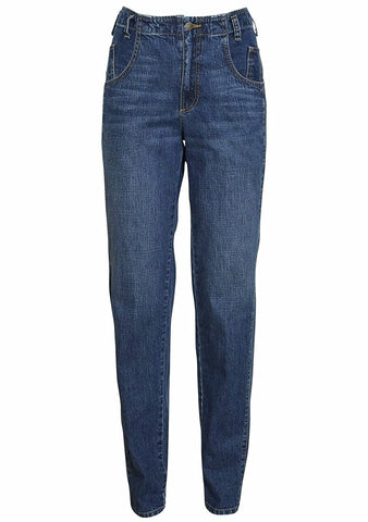 Indigo Denim Long Trigger Pants