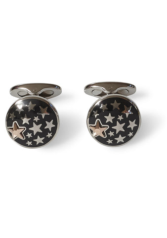 Black Star Enamel Cufflinks