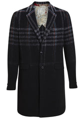 Etro Men Dégradé Check Wool Coat SALE