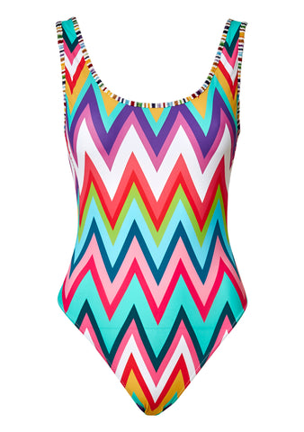 Multicolor Zigzag Swimsuit
