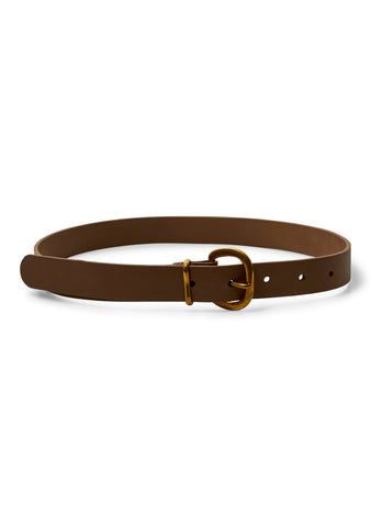 Thin Estate Belt Natural Leather