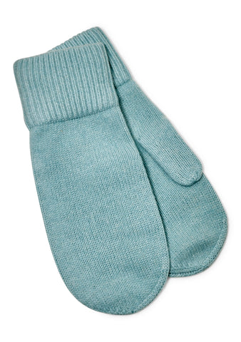 Ladies Cashmere Pastel Blue Gloves